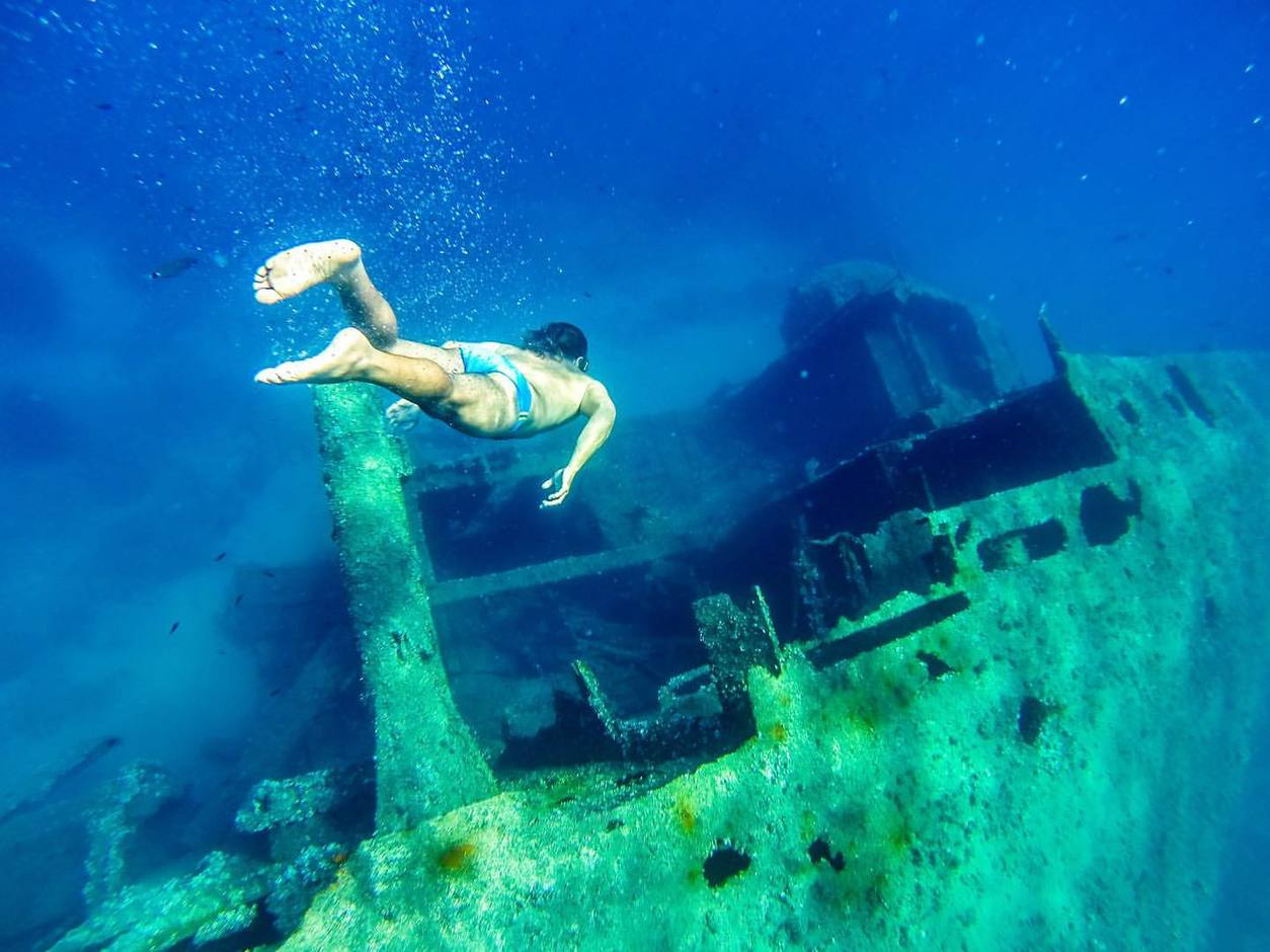 Pomonte Wreck, Elba Island. Italy.